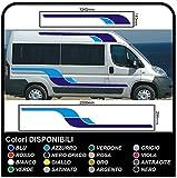 Pegatinas para Camper gráficos vinilo pegatinas calcomanías conjunto camper van RV caravana Caravan x 10 pegatinas kit completo con pegatinas para autocaravanas de alta calidad-gráficos 12 (COLORES COMO EN FOTOS)