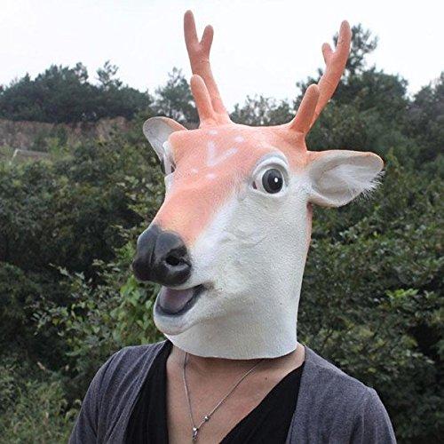 Alamor Tanz Performance Requisiten Giraffe Kopfbedeckung Halloween Hirsch Maske