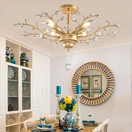 HT American Vintage cristallo ramo soggiorno / den / sala da pranzo / camera da letto / caffè / lampadario a soffitto , wide 78cm high 30cm gold - Pulsante Politico Vintage
