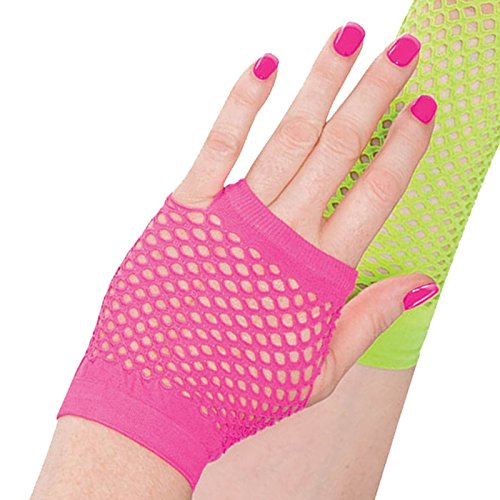 Adult 80s Fishnet Gloves Party Neon Club Rave Fancy Dress