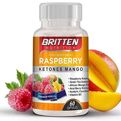 Himbeerketon Raspberry Ketone Mango | 5000mg | Gewichtsverlust Diät-Pillen | Fettverbrenner für Männer & Frauen | Appetitzügler | leicht zu schluckende Kapseln |