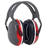 Gaxen Faltbare Gehörschutz Kapselgehörschutz Noise Cancelling Ohrenschützer für Kinder Kind (Rot)