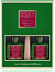 Baylis & Harding Winter Spruce & Berries  Fragranced Reed Diffuser Duo