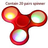 LED Light Fidget Hand Spinner,Bescita LED Light Fidget Hand Spinner Torqbar Finger Toy EDC Focus Gyro Fast Shipping (Red)