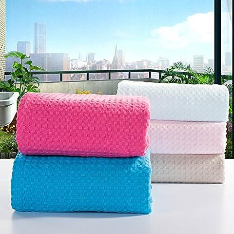 MQZM-Semplice garza di cotone asciugamano federe asciugamani,m,180×220cm