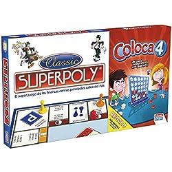 Falomir- Superpoly + Coloca 4, Juego de Mesa, Clásicos, (646385)