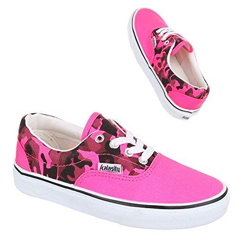Damen Multi 1 Slipper Freizeitschuhe Pink Halbschuhe Yj876013 Schuhe Sneaker 7qp7THw