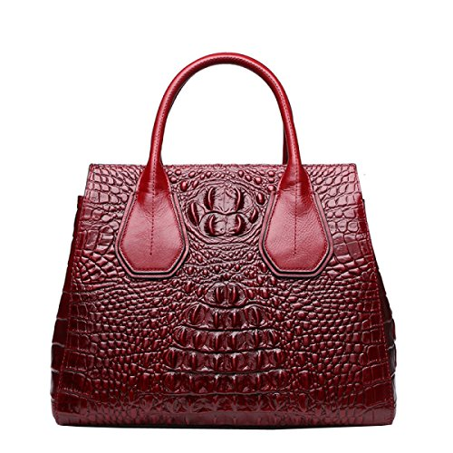 LAIDAYE Womens Handtaschen Damen Mode Umhängetasche Grab Tote Handtaschen Red