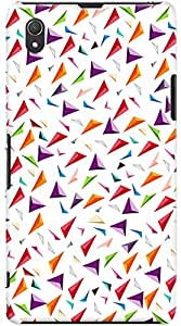 Kasemantra 3d Triangles Case For Sony Xperia Z1