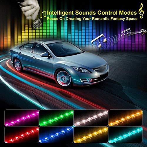 Strisce LED Striscia LED Per Auto Da APP Control, Govee 36/48/72 Luci Per Interni Auto LED Musica Multi-colore Attivato Da Suono Sotto Kit Di Illuminazione A Cruscotto, Caricabatteria Da Auto Incluso