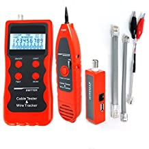 Network Ethernet Cable Tester 5E 6E LAN Telephone Wire Coaxial BNC USB and 1394 Line Cable Checker