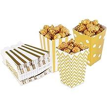 ULTNICE Cajas para Palomitas de Maíz 50pcs (oro)