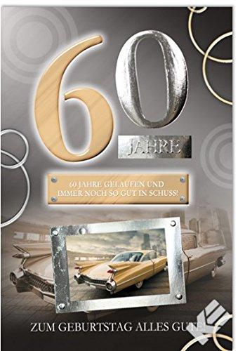 """Karte zum 60. Geburtstag """"Oldtimer"""", B6 + Umschlag"""