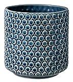 Bloomingville Pot de fleurs, Bleu, Céramique