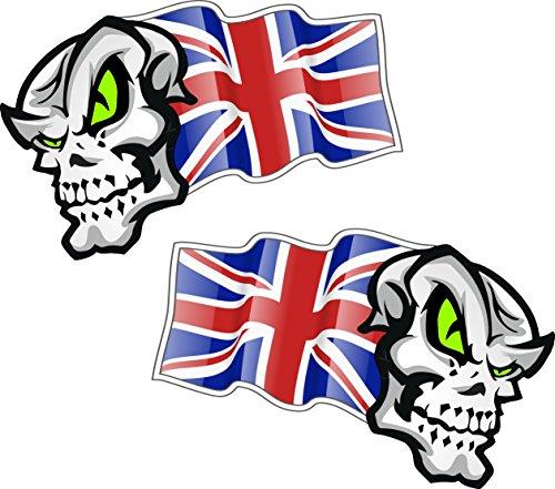 Sticker vinyle autocollant//Petit drapeau Union Jack/ /Paire