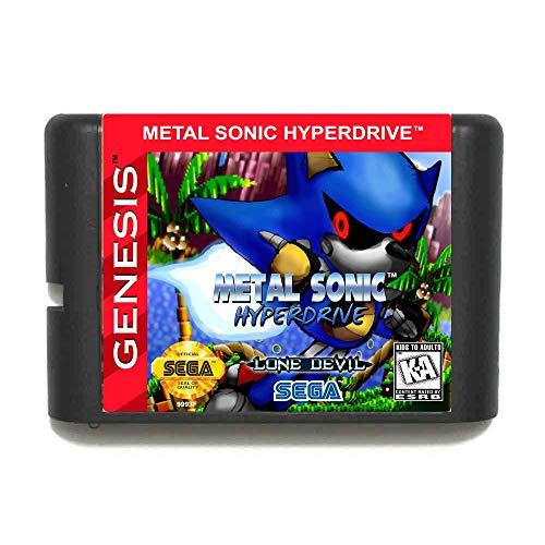 The Crowd Tradensen Metal Sonic Hyperdrive 16 Bit Md Game Card for Sega Mega Drive for Genesis
