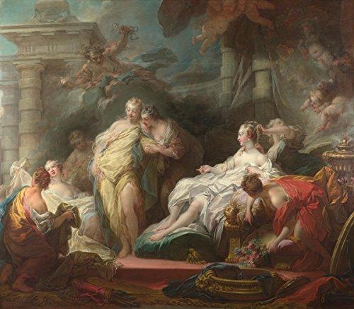 Berkin Arts Jean Honore Fragonard Giclée Leinwand Prints Gemälde Poster Reproduktion (Psyche, die ihren Schwestern ihre Geschenke vom Amor zeigt) (Geschenk Fragonard)