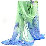 Sanwood� Ladies Chiffon Scrawl Flower Printed Wrap Scarf