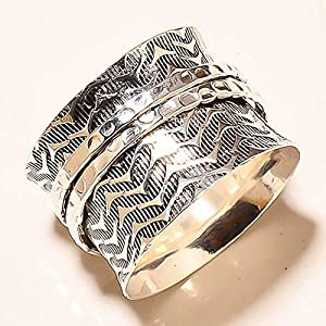 Spinner Band Rings, Anxiety Ring for Meditaion, 925 Sterling Silver Spinner Band Rings for Women, Gift Ring for Mother's Day
