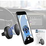 Case Kompatibel Multi-direction (Verwendung mit oder ohne vorhandene Kiste!) Schwarz Magnetische Lüftungsöffnung im KFZ-Halter für Vodafone Smart Prime 6