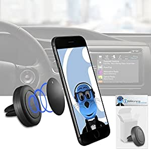 Case Compatible Multi-direction (Use with or without your existing case!) Black Magnetic Air Vent In Car Holder for Samsung R900 Craft