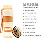 MAIGG Premium Water Bottle - 10oz&18oz - Fast Flow, Flip Top Leak Proof Lid - One Click Open - Non-Toxic BPA Free & Eco-Friendly Tritan Co-Polyester Plastic - Must Have For The Gym, Yoga, Running, Outdoors, Cycling, and Camping
