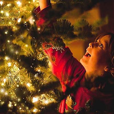 12M Led Lichterkette OMERIL 120er USB Lichterkette Draht Wasserdicht mit Schalter, Stimmungslichter Lichterkette für Zimmer, Außen, Innen, Kinderzimmer, Weihnachten, Party, Hochzeit, DIY usw. Warmweiß
