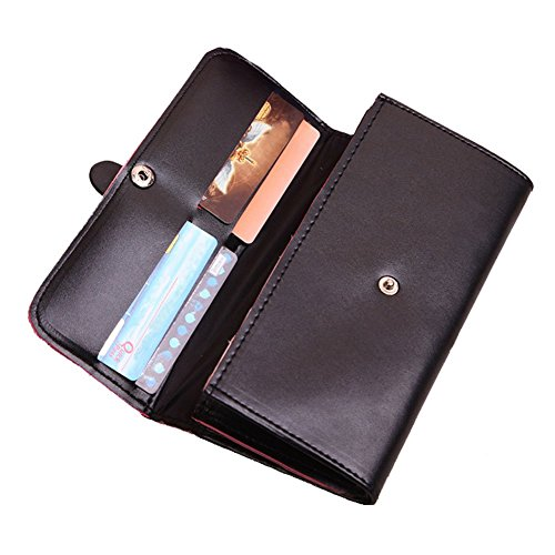 51NN43U2SeL - Bling Stars Women Leather Wallet Purse Credit Card Clutch Holder Case