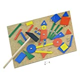 67Pc Hammer & Nails Tap Tap Wooden Art Set - Fun & Creativity for Kids