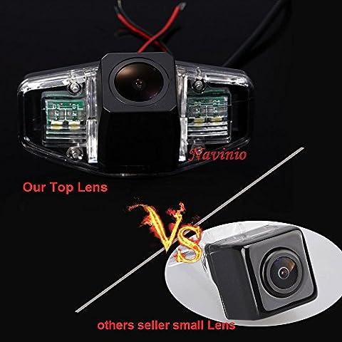 kalakus Super Star Light Pro HD voiture caméra de recul aide au stationnement améliorée avec 8IR Vision nocturne 170degrés grand angle étanche borkhoche Defination (Noir) pour Accord CIVIC Odyssey Pilot Acura TSX