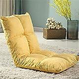 QWhing Cuscino del Sedile Lazy Couch Tatami Pieghevole Singola Poltrona Letto per Computer, Bianca Cuscinetto della Sedia (Colore : Yellow)