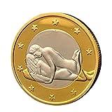 Wawer 1 Stück Sex Münzen 6 Euro Münzen Verschiedene Position Hard Coins Sammlung Paar Spielzeug Schmuck Geschenk (I)