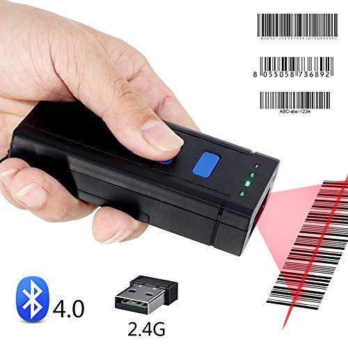 EJOYDUTY Kabel, 2,4 G Wireless, Bluetooth Tragbares 1D Strichcode Scanner, Mini-Handheld-CCD-Barcode-Leser, für POS, iPad, iPhone, Android-Handys, Tablets oder Computer, mit USB-Empfänger