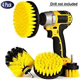 4 Pack Drill Brush Attachment Kit - Drill Brush Power Scrubber for Cleaning Bathroom, Pool Tile, Flooring, Brick, Ceramic, Marble & Grout All Purpose Drill Scrub Brush