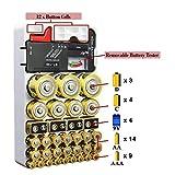 Aesy Testeur de Batterie et Organisateur de Stockage de Batterie pour Testeur Amovible pour Rangement de la Batterie (Blanco)