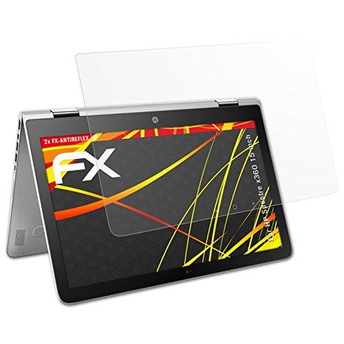 atFolix Schutzfolie kompatibel mit HP Spectre x360 15 inch Bildschirmschutzfolie, HD-Entspiegelung FX Folie (2X)