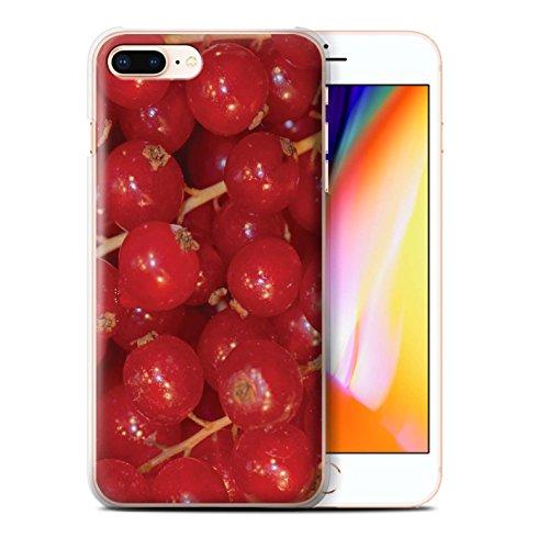 Stuff4 Hülle / Case für Apple iPhone 8 Plus / Zitrone & Limette Muster / Saftige Frucht Kollektion Rote Johannisbeere