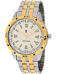Swiss Trend Exclusive Robust Steel Gold Analogue Watch For Men