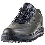 Nike Lunar Force 1 Herren Schuhe Entenstiefel Low Brown in Schwarz Leder AA1125-300