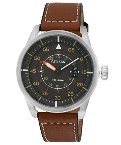 Citizen Herrenuhr Quarz Leder AW1360-12H
