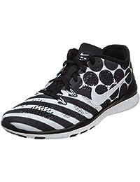 d18bea0a230b NIKE Women s Free 5.0 TR Fit 4 Print Training Shoe Black White Size 11 M