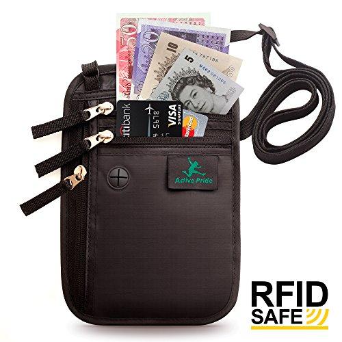 Borsello da Viaggio - Portadocumenti da Collo - Porta Passaporto - Protettive RFID per Carte di Credito
