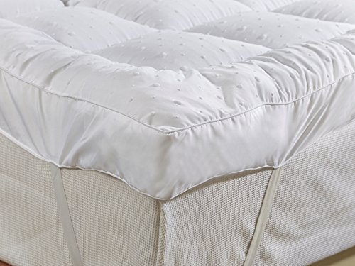 "New ""Rejuvopedic"" 10 cms (4 Inch) Double Bed ""Microlite"" Microfibre Mattress Topper, Box Stitched, 230 TC Cover & Elasticated Corner Straps"