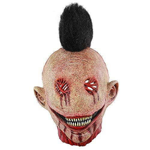 Halloween Maske Gruselige Zombie Masken Horrible Adult Full Face Horror Böse Bloody Big Slit Mouth Punk Clown Gruselige Monster - Adult Punk Zombie Kostüm