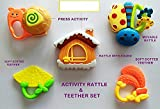 #4: Babytintin Colorful Flexible Attractive Non Toxic Rattles for Babies,Toddlers,Infants,Child