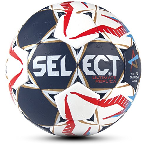 Select Ultimate Replica CL Handball, Blau/Weiß/Rot, 3
