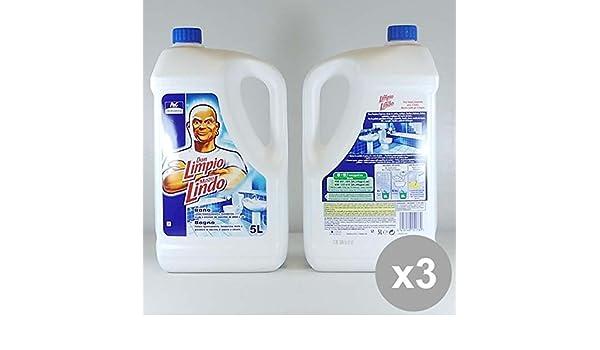 Set 3 mastro lindo professional 5l bagno detersivi e articoli per