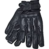 Commando Industries Handschuhe Swat Defender II aus Leder mit Quarzsand Knöchelschutz Fingerschutz Securityhandschuhe Schwarz Größe S-XXL (L)