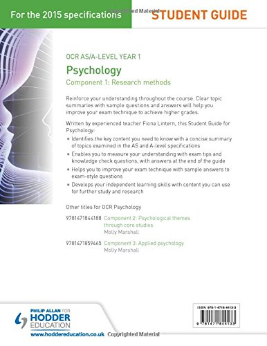 OCR Psychology Student Guide 1: Component 1: Research methods (Ocr A1 Psychology)