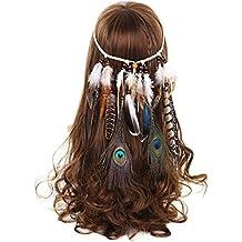 awaytr Chica hippie boho Muelle de cinta para ropa de noche Halloween
